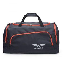 Geanta de voiaj, Wings, TB1006 - 65 cm, Gri/Portocaliu